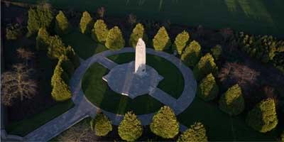 Série de photos aériennes des sites de mémoire de la première guerre mondiale